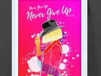Sia - Never Give Up poster