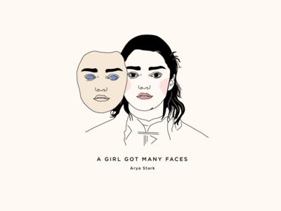 Arya Stark - A Girl Got Many Faces