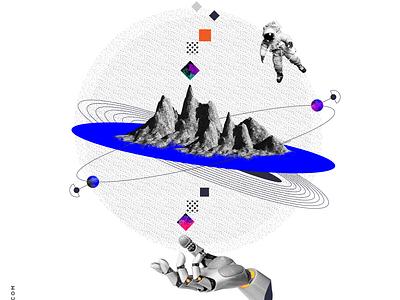 A glimpse into Dystopia illustrator cc ui design adobe procreate illustrator collage art digital art illustration