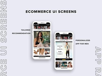 Recommendation screen for eCommerce App recommendation ui ecommerce app adobe photoshop brand ui ui design graphic design