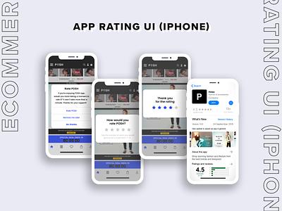 Appstore Rating Screen for eCommerce App wacom adobe photoshop rating screen ecommerce app app ui ui design graphic design