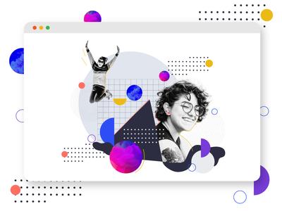Collage Illustration for Insider Team Career Page