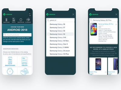 Mobile User Scenario - Search Product web design ux ui