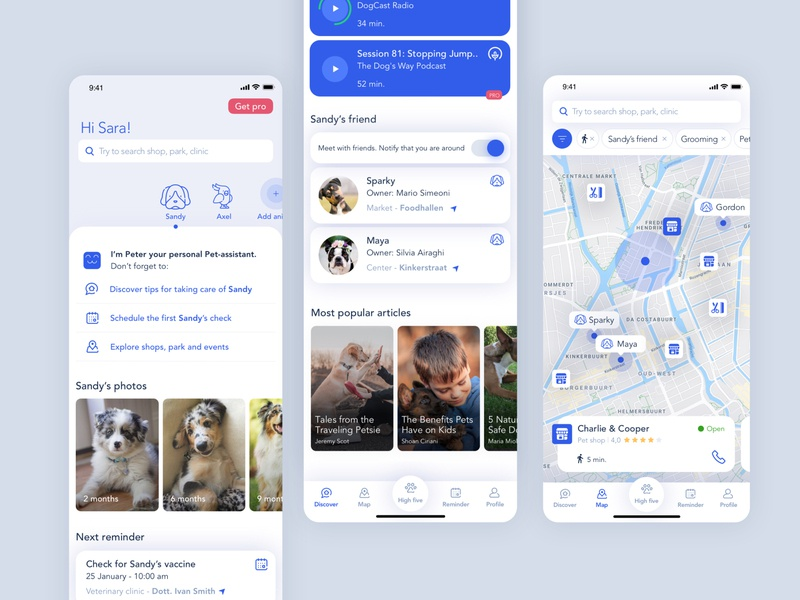Pet-assistant | iOS App ios pet ixd sketch product design interactiondesign design system design app ux ui