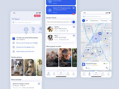 Pet-assistant | iOS App ios pet ixd sketch product design interactiondesign design system design app ux ui