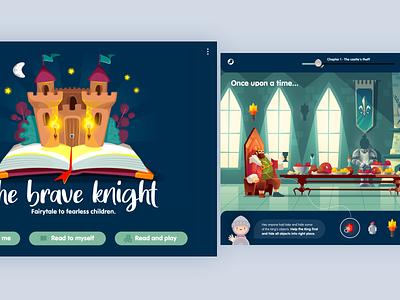 Children's digital playbook | iOS Tablet child fairytale playbook product design illustration interactiondesign app ux ui