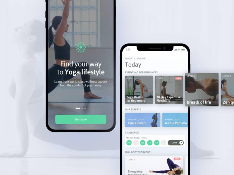 Yoga Training | iOS App design system user interface design yoga ux ui training ios design app