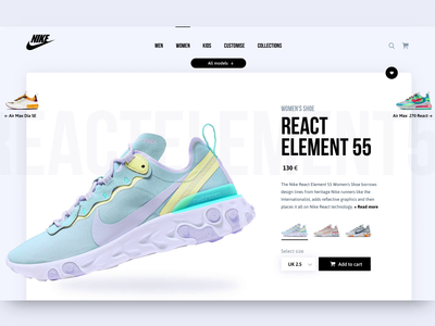 Nike e-commerce | Web product design product page ixd ux ui sketchapp invisionstudio invision web ecommerce nike interactiondesign userinterface