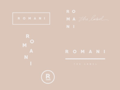 Romani The Label Branding brand development logo designs branding