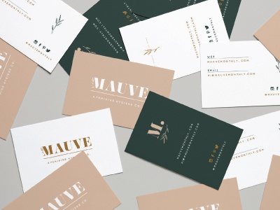 Mauve illustrations brand development branding business card designs