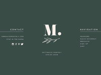 Mauve Web Design Footer