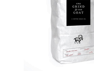 The Grind & The Goat illustrations packaging design brand development