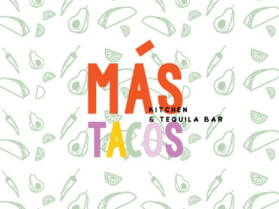 Mas Tacos Branding by Studio 9 Co logo design logo illustration brand development illustrations logo development branding
