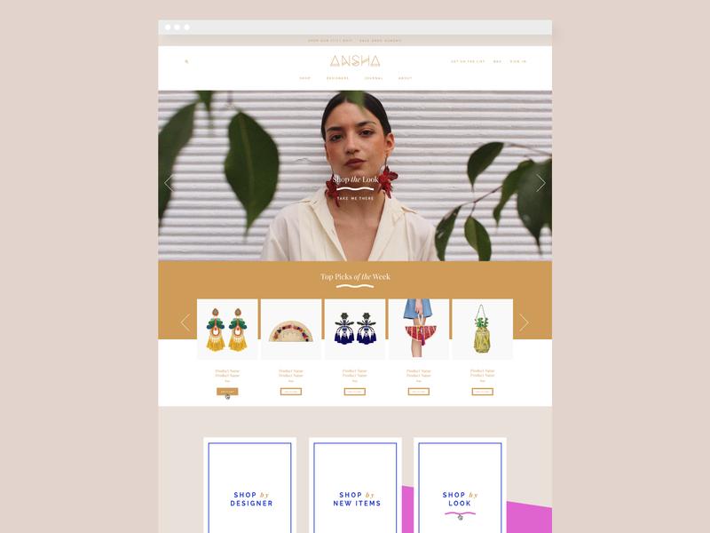 Ansha Branding & Ecommerce Design by Studio 9 Co logo design web design ecommerce design website design brand development logo development illustrations branding