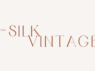 Silk Vintage Branding By Studio 9 Co logo design brand development custom font custom type logo development branding