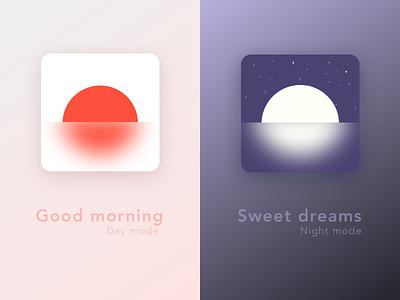 Day / Night mode for alarm clock ⏰ daynight inspo inspiration calendar alarm clock design illustration dailyui dail ui