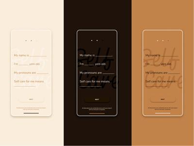 Self Care #001 #DailyUI typography design ux ui