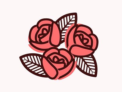 Valentine's Day Roses illustration flowers valentine vector flat roses rose