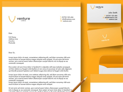 Venture Catering Stationery