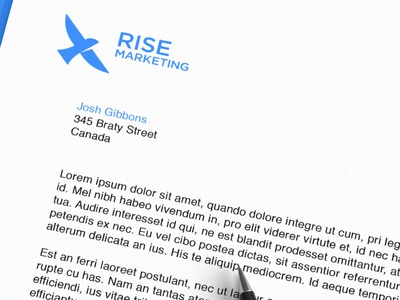 Rise Marketing Stationery