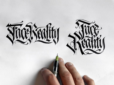 Face Reality Tattoo Sketch logotype typography blackletter calligraphy lettering tattoo artist tattoo design tattoos tattoo