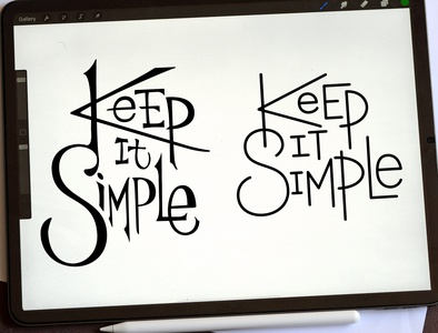 Keep It Simple Logo calligraffiti print handlettering logo design logodesign typography logotype calligraphy lettering