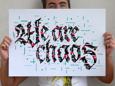 We Are Chaos calligraffiti print handlettering logo design logodesign typography logotype calligraphy lettering