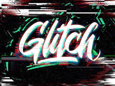 Glitch Lettering handlettering logo design logodesign typography logotype calligraphy lettering glitch art glitch