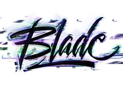 Blade Glitch Lettering inktober2020 inktober design logodesign typography logotype calligraphy lettering