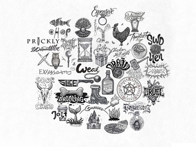Inktober 2018 logos