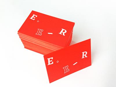 E.E-R Personal Business Cards