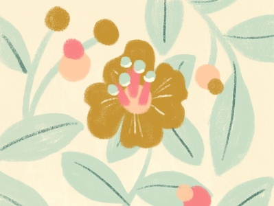 Floral Pattern surfacedesign pattern nature floral color botanical illustration digital
