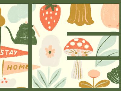 Home nature art inspiration typogaphy nature floral color botanical illustration digital