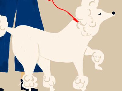 French Kid dog digital illustration