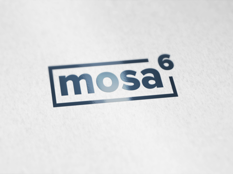 mosa6 logo luxury sleek simple logo logo design logo clean design