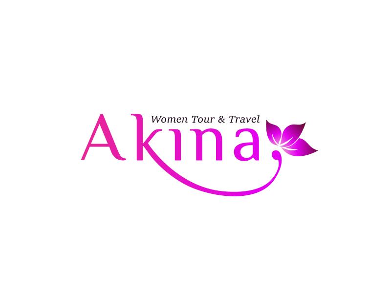 Akina Logo travel simple logo feminim logo logo