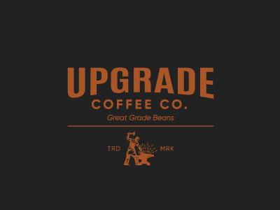 Upgrade Coffee Logo masculine logobranding brand coffee logo logo minimal