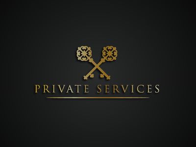 Private Service Logo gold elegant key logo luxury logo key logo design brand logo