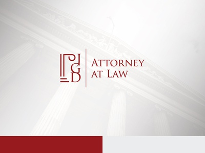 Attorney Logo justice lawyer company court icon red attorney  law logotype greek pillar law firm logo design logo