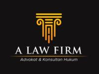 """""""A"""" Law Firm Logo law firm gold greek pillars attorney lawyer idea fresh logo design logo"""