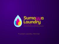 sumayya laundry syariah logo playful logo illustration identity designer laundry flower drop water logo design design fresh logobranding logo