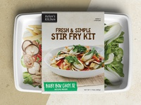 Sleeve package design for a meal kit