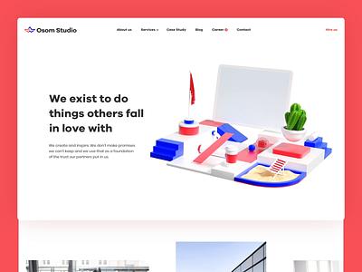 Osom Studio — About us and 3D Animation poland about us studio uiux user interface webdesign motion animation illustration cgi blender3d design 3d