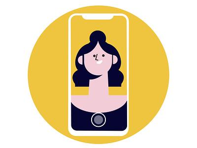 women selfie vector flat design women vector illustration