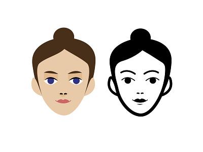 women icon art illustrator design minimal women vector flat identity icon illustration