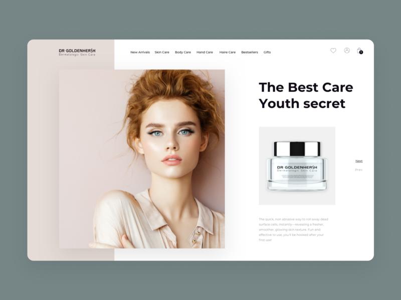 Cosmetic e-store. Redesign concept