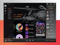 Music Player App UI Concept Design