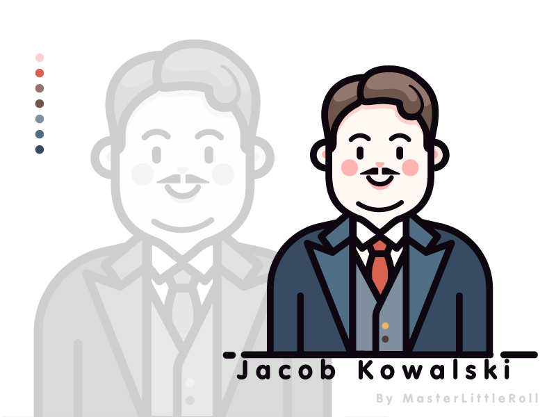 Fantastic Beast_Jacob cute man figuredrawing figure moive moviecharacter vector work vector art character draw fantastic beasts vector drawing illustration