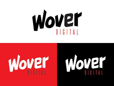 Wover Digital wover wow white black red agency branding digital