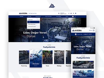 Corporate Website black blue design responsive ux ui metals website corporate